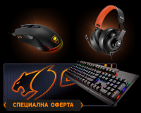 COUGAR Ultimus TTC Red Switch+COUGAR ARENA Black+COUGAR PHONTUM+Revenger Gaming Mouse